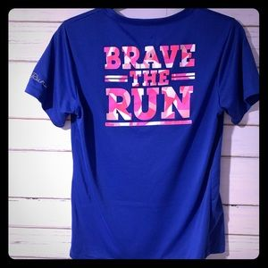 UA V-Neck Brave the Run Short Sleeve Shirt